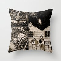 bugs Throw Pillows featuring Bugs by The Art of Filippo Borghi
