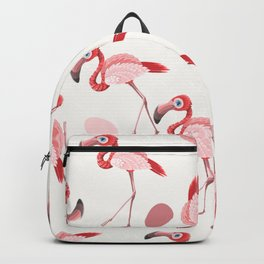 Pink Flamingos Modern Art Print Home Decor Interior Design Wall Hanging Backpack