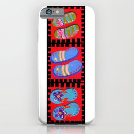 Flip Flops Times Three iPhone Case