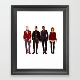 Winter CAtWS Gang Framed Art Print