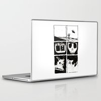 death Laptop & iPad Skins featuring Death by Lee Grace Design and Illustration