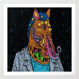 Horse  Monster Man Art Print