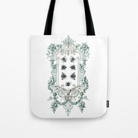 bees Tote Bags featuring Bees by Heidi Ball