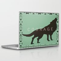 courage Laptop & iPad Skins featuring Courage by Laura Santeler