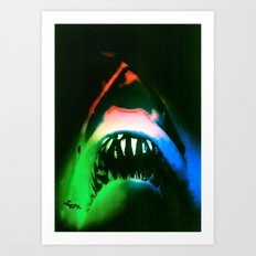 SHARK!  POWER SURGE Art Print
