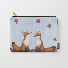 foxes, falling leaves, & pileated woodpecker Carry-All Pouch