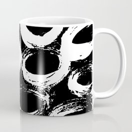 Minimal [4]: a simple, black and white pattern by Alyssa Hamilton Art Coffee Mug