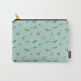 Tit Bird Pattern Birdwatching Ornithology Gift Carry-All Pouch