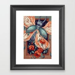 Moth Beetle Framed Art Print