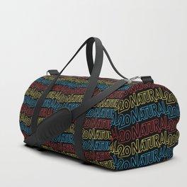 Neon Retro Natural 20 Pattern Duffle Bag