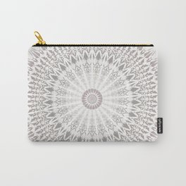 Taupe Mandala Carry-All Pouch