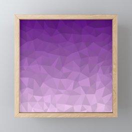 Purple Ombre - Flipped Framed Mini Art Print