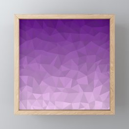 Purple Ombre - Flipped Framed Mini Art Print