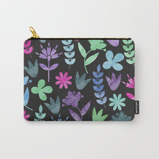 Flower Pattern V Carry-All Pouch