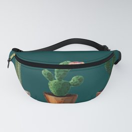 Three Cacti On Green Background Fanny Pack