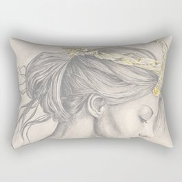 Glimmering gold crown Rectangular Pillow