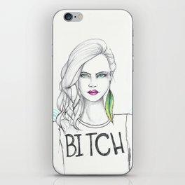 bitch iPhone Skin