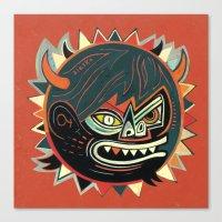 gorilla Canvas Prints featuring Gorilla by Exit Man
