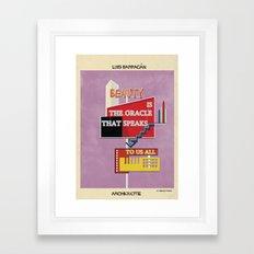 quote luis barragán Framed Art Print