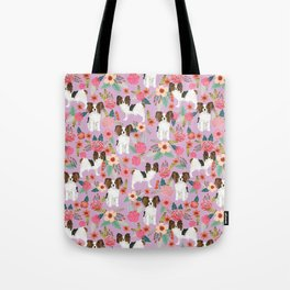 Papillon pet friendly small cute dog breed must have gift for dog lover florals dog pattern print Umhängetasche