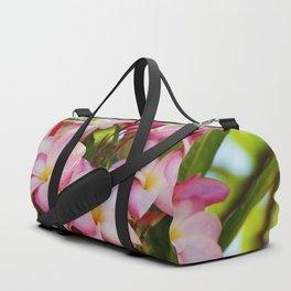 Pink Plumeria Duffle Bag