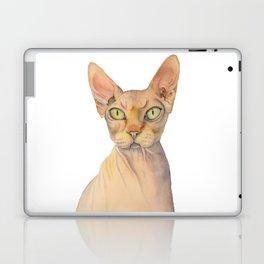 Sphynx Cat Watercolor Portrait Laptop & iPad Skin
