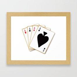 Four Aces Framed Art Print