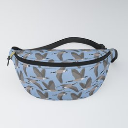 Canada Geese Flying in Blue Fanny Pack