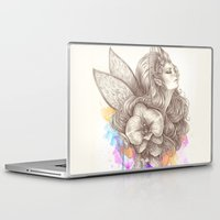 orchid Laptop & iPad Skins featuring Orchid by Bea González