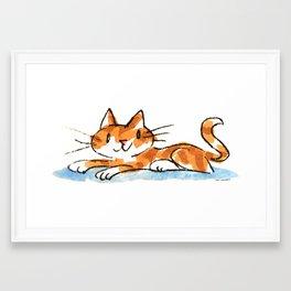 "An Orange Cat Named ""Butters"" Framed Art Print"