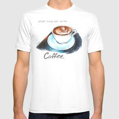 Cappuccino White Mens Fitted Tee MEDIUM