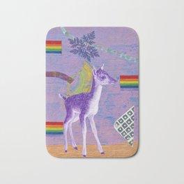 rainbow deer 1 Bath Mat