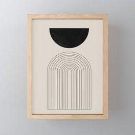 Arch, geometric modern art Framed Mini Art Print