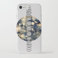 moon phases iPhone & iPod Cases featuring Moon Phases by amyrose