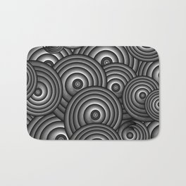 Charcoal Swirls Bath Mat