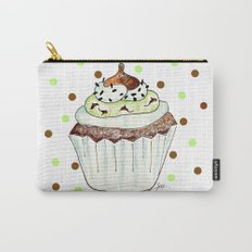 Chocolate Mint Cupcake Carry-All Pouch