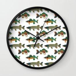 Freshwater Favorites Wall Clock