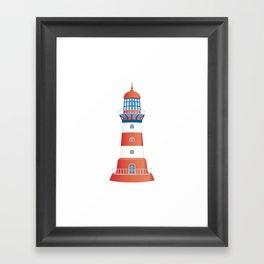 nautical lighthouse Framed Art Print