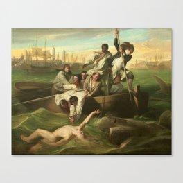 Classical Masterpiece 'Watson and the Shark' by John Singleton Copley Canvas Print