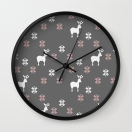 Winter themed repeatable pattern Wall Clock