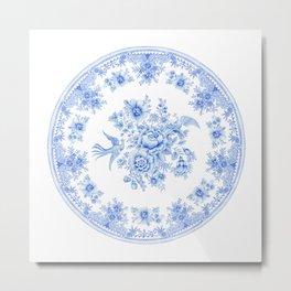 Blue asiatic pheasant Metal Print