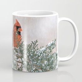 Snowfall Cardinal Coffee Mug