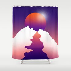 Spilt moon Shower Curtain