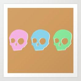 pastel skull Art Print