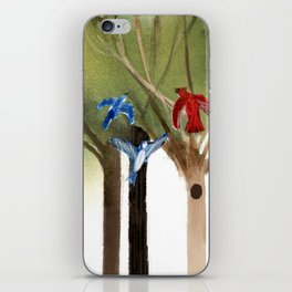 Blue Jays and Red Cardinal iPhone Skin