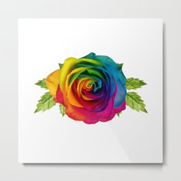 The Happiness Rose Metal Print
