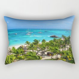 Aruba One Happy Island Rectangular Pillow