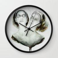 ahs Wall Clocks featuring Bette and Dot Tattler by beart24