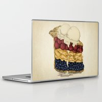 pie Laptop & iPad Skins featuring American Pie by Megs stuff...