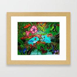 Feelin Froggy Framed Art Print